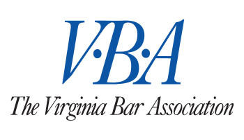 Virginia Bar Association blue and gray color logo on the Archangel Law Group website