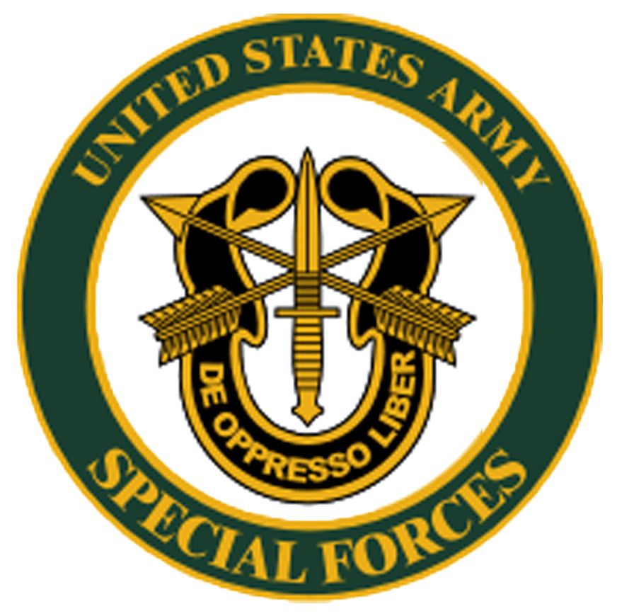 United States Special Forces green and yellow color logo on the Archangel Law Group website