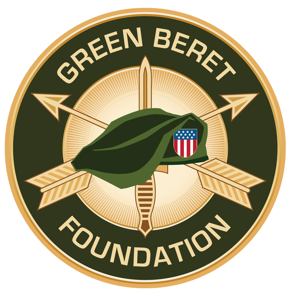 Green Beret Foundation gold, green, red, white and blue color logo on the Archangel Law Group website