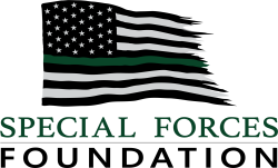 Special Forces Foundation green and black color logo on the Archangel Law Group website
