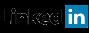 Blue, black, and white LinkedIn logo transparent background on the Archangel Law Group website